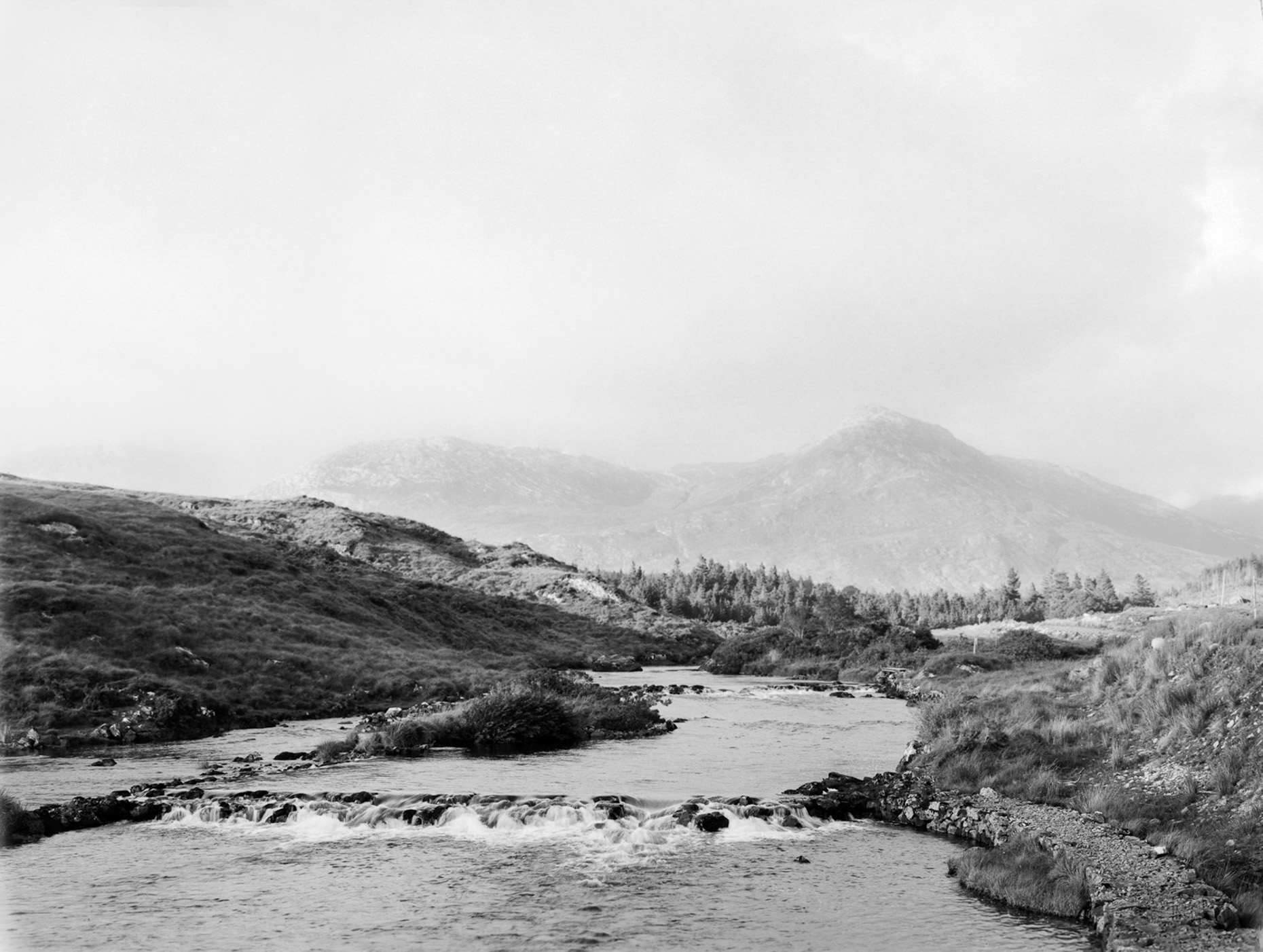 Axel Bernstorff, Collectable limited edition fine art photographic prints. The view to Twelve Bens, and Ballynahinch Castle, Connemara, Ireland. Collectable limited edition fine art prints.