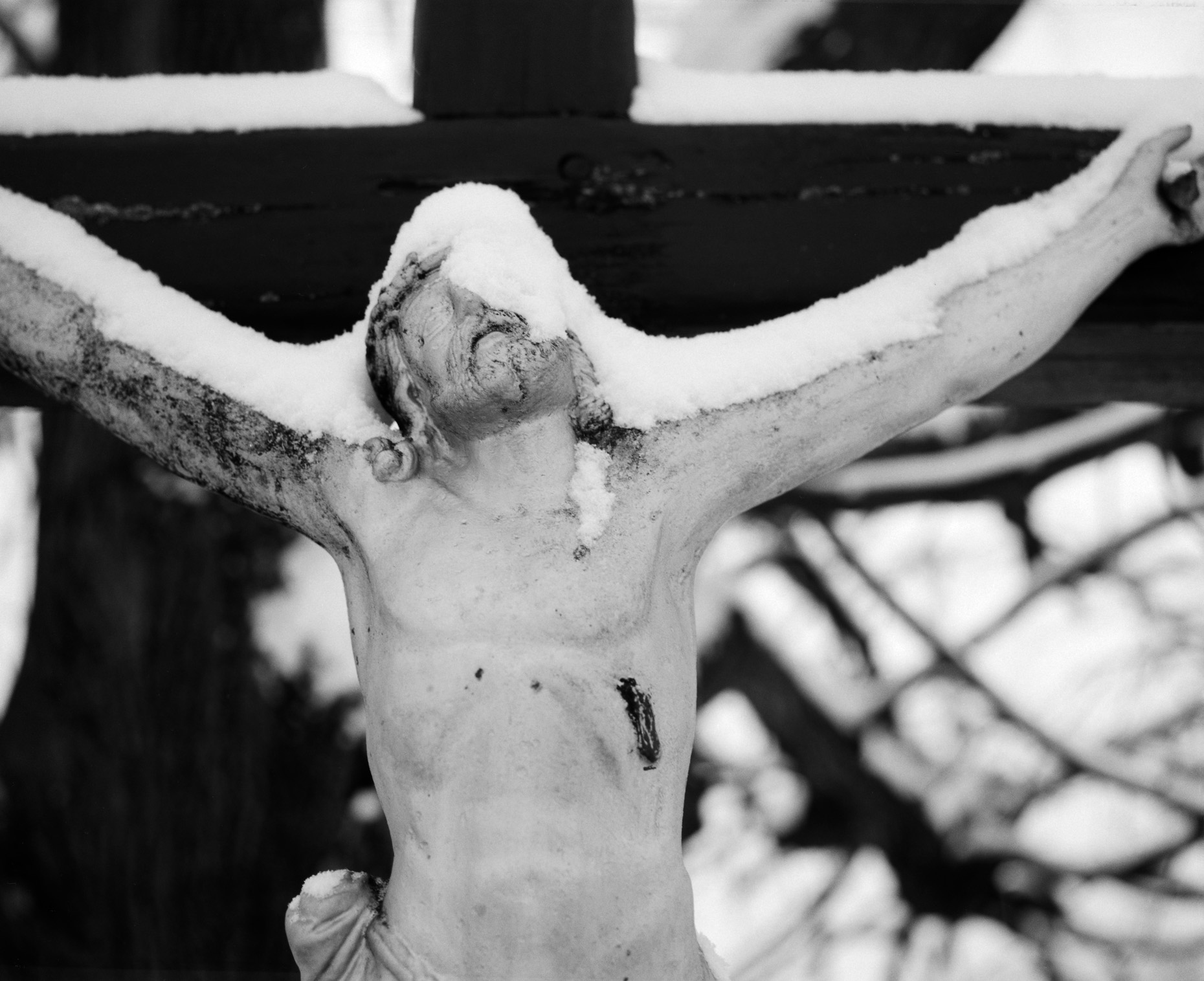 Axel Bernstorff, Collectable limited edition fine photographic art prints. Diosjeno crucifix I, Hungary.