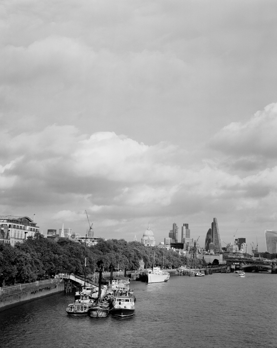 Axel Bernstorff, Collectable limited edition fine photographic art prints. River Thames I, from Waterloo Bridge, towards The City and Saint Pauls Cathedral, London, England.